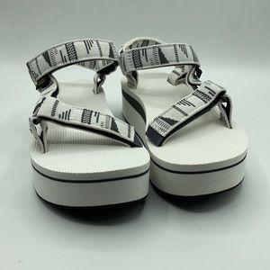 Teva Women's Flatform Chara Bright White Sandals